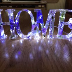 """Battery powered """"Home"""" light in Purple"""
