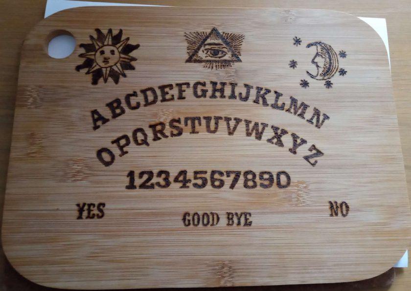 Ouija board cutting board 1