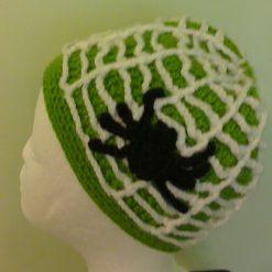 Halloween Crochet Kit, Spider Web Hat with Spider