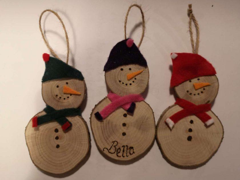 Personalised snowmen
