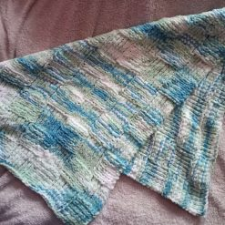 Super soft & chunky hand knitted baby blanket