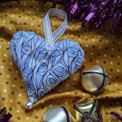 Blue Heart Christmas Tree Decoration