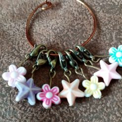 Starfish And Flowers Stitch Markers