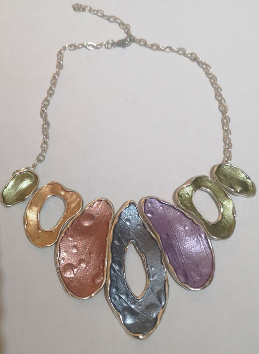 Beautiful Metal Pastel colours necklace 1