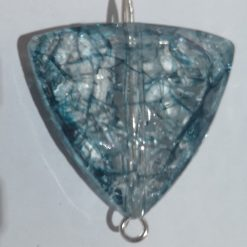 Blue shattered glass look pendant necklace 6