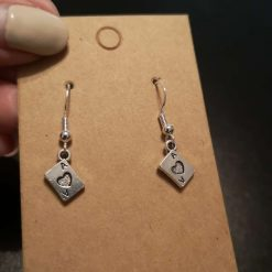 Ace of Hearts Earrings **CLEARANCE**