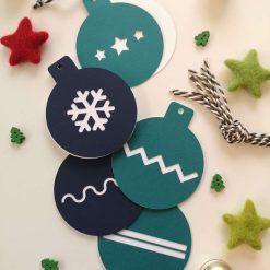 Blue/Teal Bauble Gift Tags - Pack of 10 3