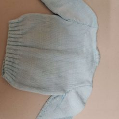 Baby cardigan in blue with duck and babies swimming. Free UK shipping. 5