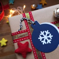 Blue/Teal Bauble Gift Tags - Pack of 10