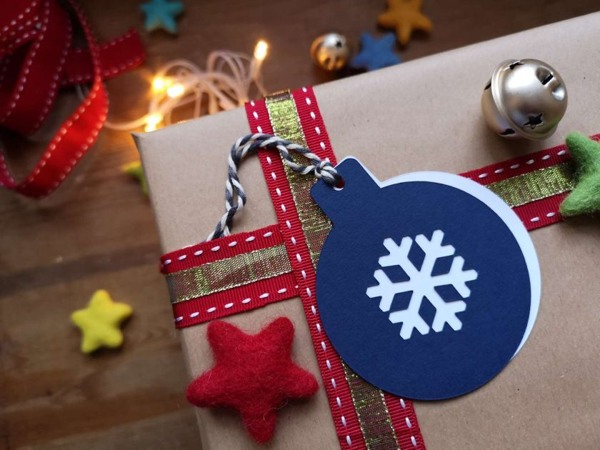 Blue/Teal Bauble Gift Tags - Pack of 10 1