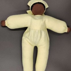 Cuddle doll (brown - yellow) for 1-3 year olds