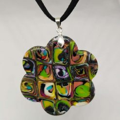 Abstract polymer clay necklace and and earrings set 4