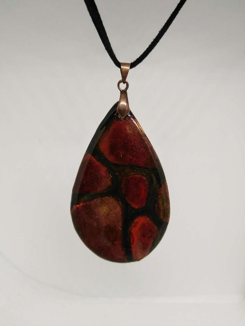 Autumn Jewel - Unique hand made polymer clay pendant 1