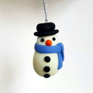 Snowman hanging ornament - glow in the dark - Christmas tree decoration 1