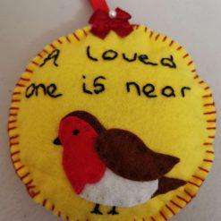 A loved one is near Felt Christmas tree ornament.