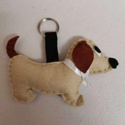 A felt Dachshund dog Key ring with Free UK shipping.