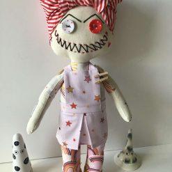 Mum Flow,  PricklesandSpike, OOAK, handmade, Doll, Gift, Accessories, Keepsake