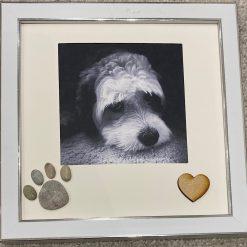 Pebble pet print photo frame