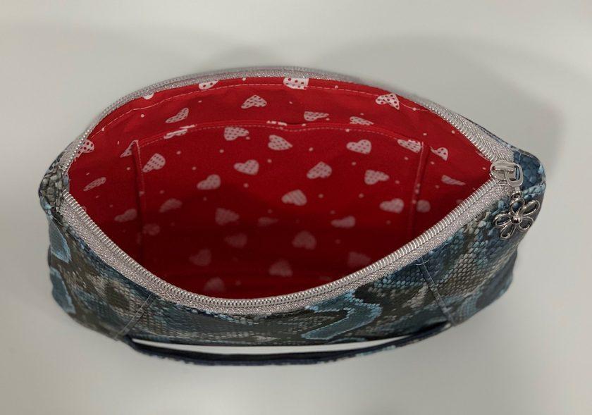Sunshine Clutch Bag - blue snake skin print 3