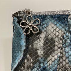 Sunshine Clutch Bag - blue snake skin print 10