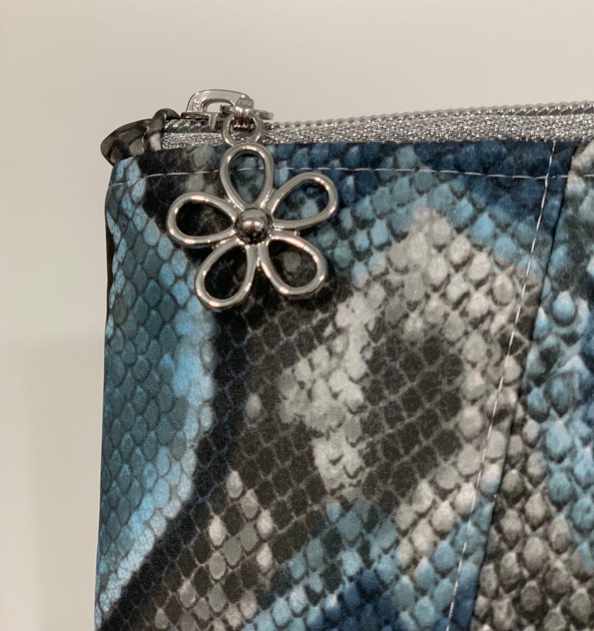 Sunshine Clutch Bag - blue snake skin print 5