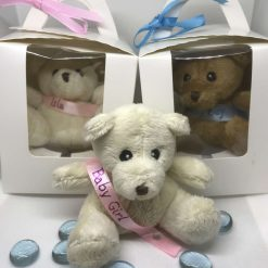 Bear in a Box - Personalised baby birthday wedding christening baptism relative gift