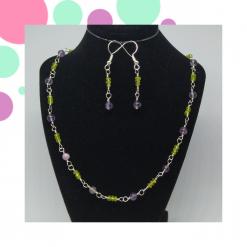 Amethyst and Peridot Jewellery Set - Gemstones