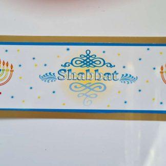 Jewish bookmark - Menorah