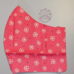 Pink Flower machine washable, re-usable, 2-layer fabric face mask with pocket for additional filter. 5 sizes available.Matching scrunchie available.