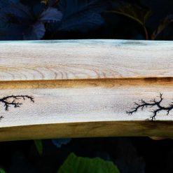 Lichtenberg Figure Detailed Incense Holder, Sycamore Wood
