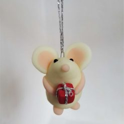 Mouse with gift hanging ornament - glow in the dark mice - decoration - gift - birthday 3