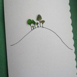 Cornish Tree card - handmade with seaglass