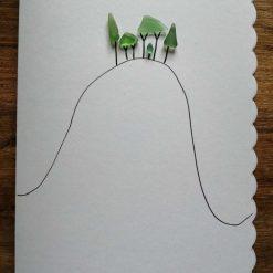 Cornish Tree card - handmade with seaglass 5
