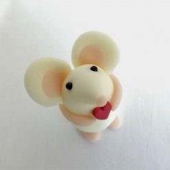 Mini mouse with heart - glow in the dark - ornament - Valentine gift - cake topper - birthday - thank you present 4