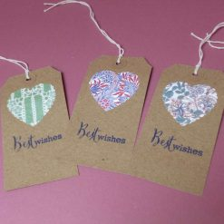 Gift tags with vintage V&A prints set of 3.