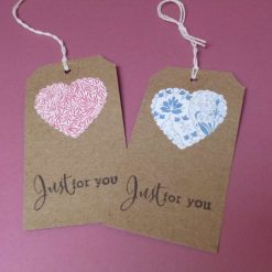 Gift tags with vintage V&A prints set of 2.