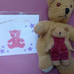 Congratulations baby girl card.