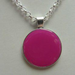 Pink Round Pendant