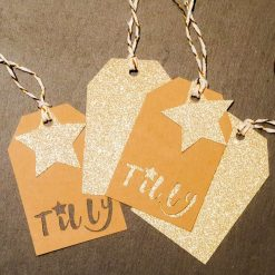 Personalised Star christmas gift tags