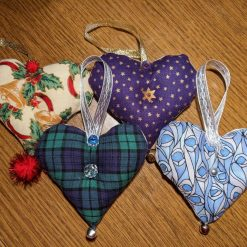 Assorted Heart Christmas Tree Decorations (set of 4)