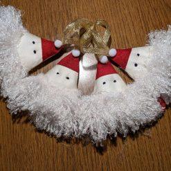 Santa Christmas tree decorations (set of 4)
