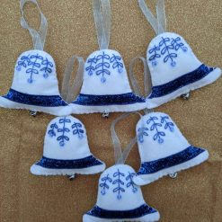 Bell Christmas Tree Decorations (set of 6)