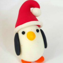 Mini Penguin - glow in the dark - Christmas ornament - decoration - gift - cake topper