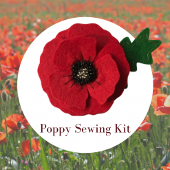 Felt Poppy Brooch Sewing Kit