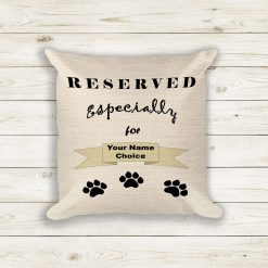 Cushions, Pet Cushion Cover - Reserved Especially For (Your Name Choice) Pet Pillow Scatter Cushion Home Decor Soft Furnishing Decoration