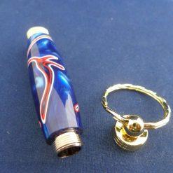 Bespoke Hand Turned Patriotic Secret Compartment Key Ring