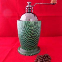 Bespoke Hand Turned Coffee Grinder (Green)