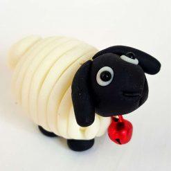 Mini sheep - glow in the dark - ornament - decoration - gift - cake topper
