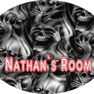Personalised Screaming Ghosts Large 190MM x 140MM oval door Plaques with Fixings
