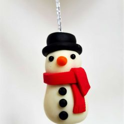Snowman hanging ornament - glow in the dark - Christmas tree decoration 2